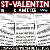 Compréhension de lecture - Thèmes: SAINT-VALENTIN - AMITIÉ - AMOUR