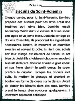 Compr 233 Hension De Lecture Th 232 Mes Saint Valentin Amiti 201