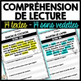 Compréhension de lecture avec sons vedettes - French Readi