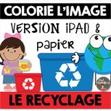 Compréhension de lecture et Colorie l'image - LE RECYCLAGE