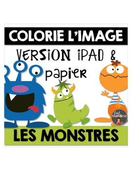Compréhension de lecture et Colorie l'image - LES MONSTRES