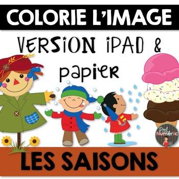 Compréhension de lecture et Colorie l'image - LES SAISONS
