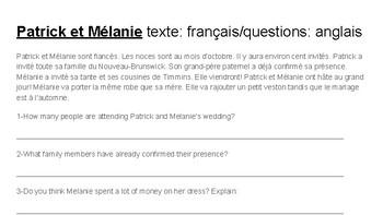Compréhension de textes: French as a second language