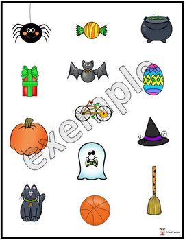 Compréhension des consignes: Halloween