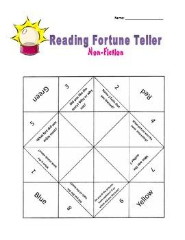 Comprehension foldable  Fortune teller
