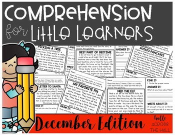 Comprehension for Little Learners December