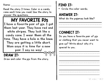 Comprehension Passages and Questions for Little Learners: December