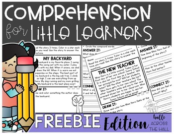 Comprehension for Little Learners FREEBIE Edition