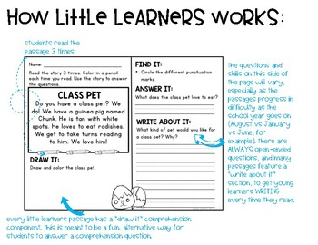 Comprehension Passages and Questions for Little Learners: FREEBIE Edition