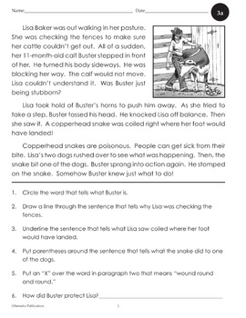 Comprehension for Reading Level 2 (Stories, Activities, & Audio) - Enhanced