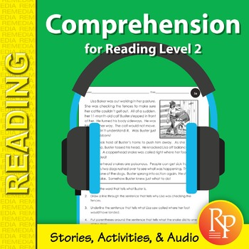 Comprehension for Reading Level 2 (Stories, Activities, &