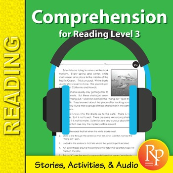 Comprehension for Reading Level 3 (Stories, Activities, & Audio) - Enhanced
