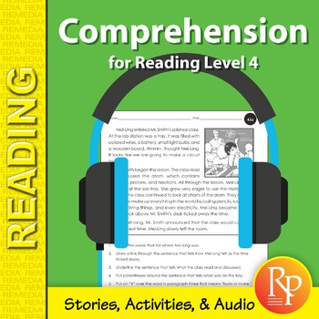 Comprehension for Reading Level 4 (Stories, Activities, & Audio) - Enhanced