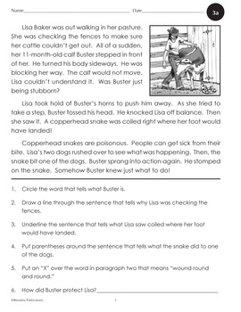 Comprehension for Reading Levels 2-4 - Enhanced