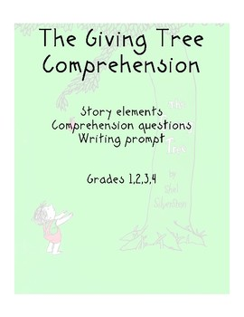 Comprehension for The Giving Tree by Shel Silverstein