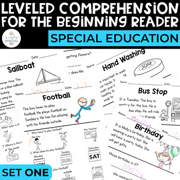 Comprehension for the Beginning Reader - Special Education & ELL