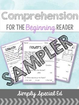 Comprehension for the Beginning Reader SAMPLER