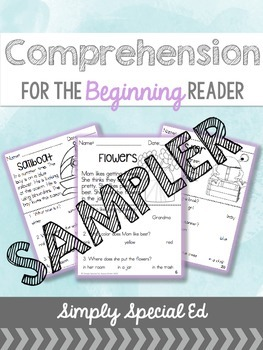 Comprehension for the Beginning Reader SAMPLER