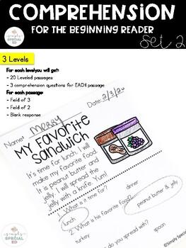 Comprehension for the Beginning Reader Unit 2