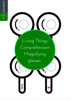 Comprehension glasses - Living Things themed
