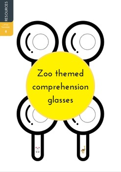 Comprehension glasses - Zoo themed
