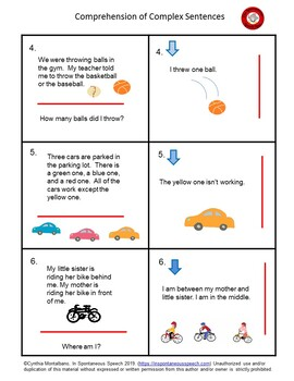 Comprehension of Complex Sentences