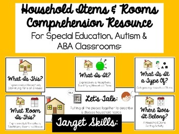 Comprehension of Household Items Resource for Autism, ABA or Special Education