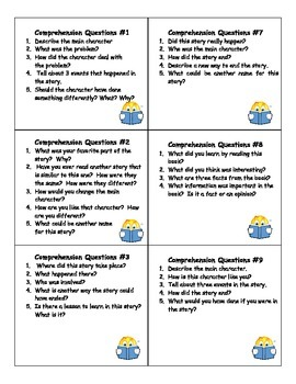 Comprehension or Book Discussion Cards