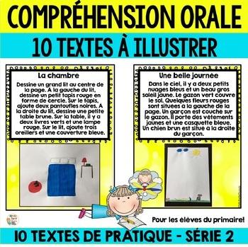 Compréhension orale  - SÉRIE 2 (10 courts textes à illustrer)