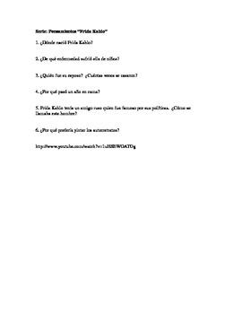Comprehension questions: Frida Kahlo YouTube video: AP/upp
