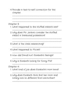 Comprehension questions for 'There's a Hamster in my Lunchbox'