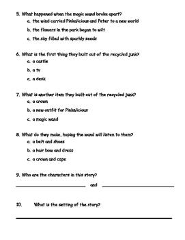Comprehension/summarizing test for Emeraldalicious
