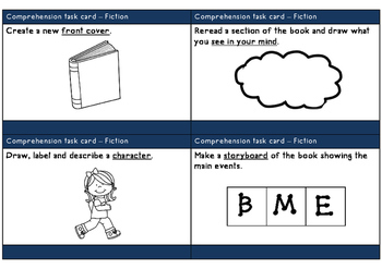 Comprehension task cards - non-fiction and fiction