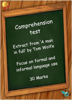 Comprehension test - from 'A man in full' by Tom Wolfe