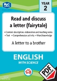 Comprehension text – A letter to a brother – Year 2