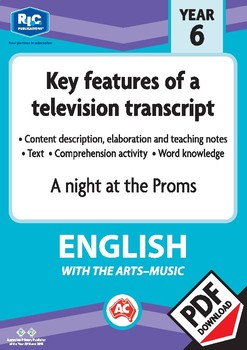 Comprehension text – A night at the Proms – Year 6