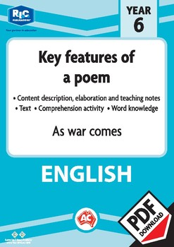 Comprehension text – As war comes – Year 6