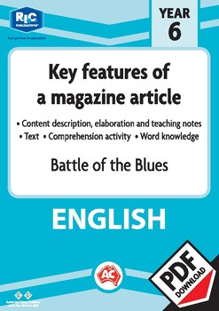 Comprehension text – Battle of the blues – Year 6