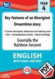 Comprehension text – Goorialla the rainbow serpent – Year 4
