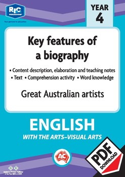 Comprehension text – Great Australian artists – Year 4
