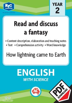 Comprehension text – How lightning came to earth – Year 2