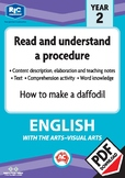 Comprehension text – How to make a daffodil – Year 2