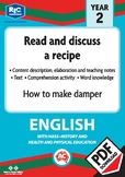 Comprehension text – How to make damper – Year 2