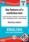 Comprehension text – Mummy makers – Year 3