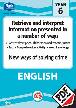 Comprehension text – New ways of solving crime – Year 6