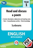Comprehension text – Sunbeams – Year 1