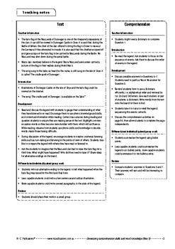 Comprehension text – The fairy flag of Macleod – Year 2