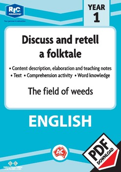 Comprehension text – The field of weeds – Year 1
