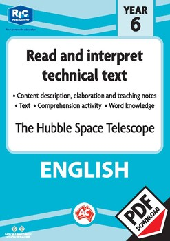 Comprehension text – The hubble space telescope – Year 6