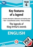 Comprehension text – The legends of King Arthur's swords – Year 4